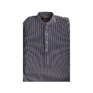 Noman Alam | Navy Blue, Dark n white line